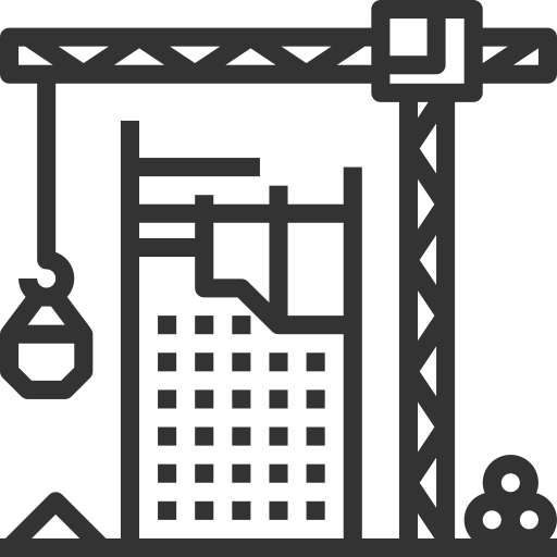 Black & White Construction Icon.